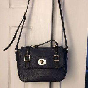 Kensie cross body blue and black handbag